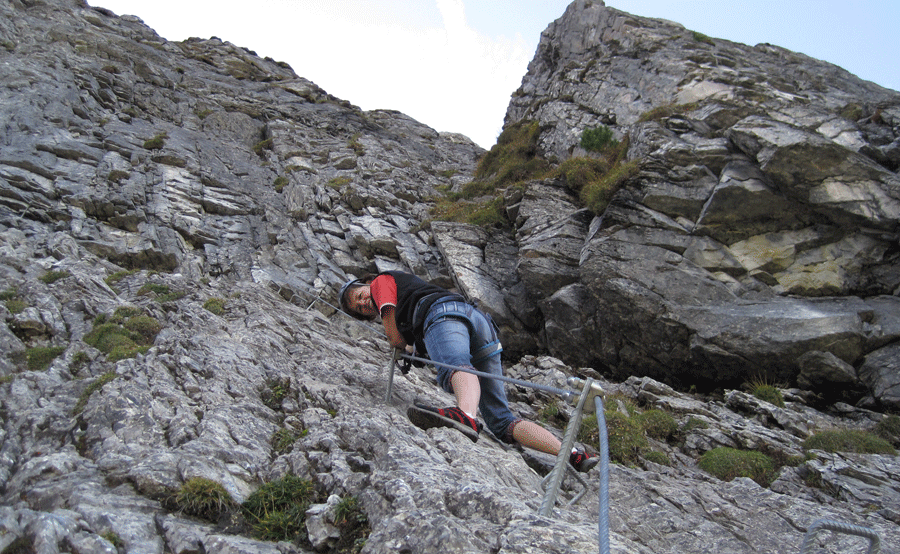 Klettersteig Zimmereben : Klettersteig zillertal zimmereben tour